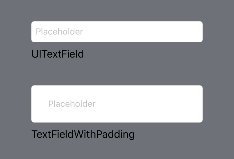 UITextField with custom text spacing example
