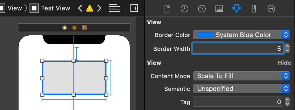Setting A UIView Border In A Storyboard Attribute Inspector