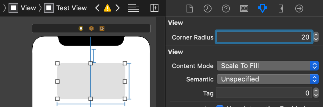 Setting A UIView Corner Radius In A Storyboard Attribute Inspector