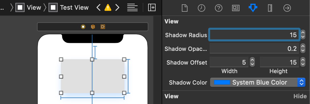 Setting A UIView Shadow In A Storyboard Attribute Inspector
